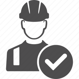 avatar, check, engineer, good, ok, user, worker icon