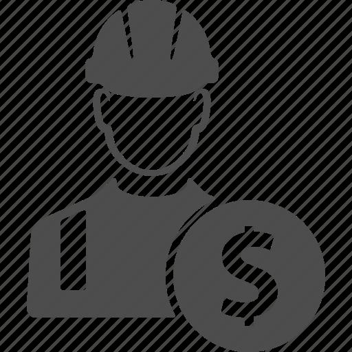avatar, business, buy, cash, dollar, money, worker icon