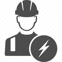 avatar, electric, electricity, engineer, user, worker icon
