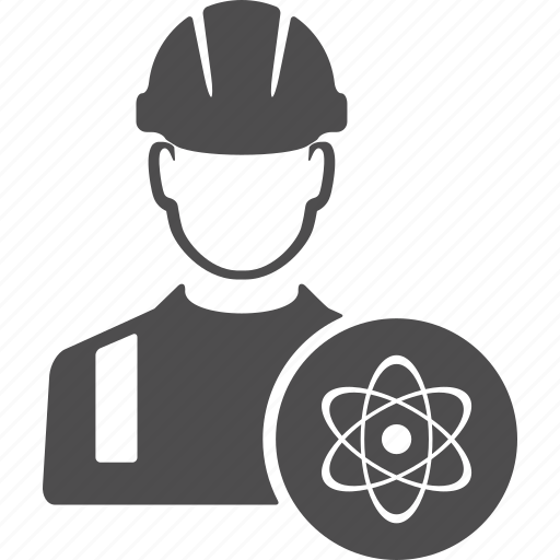 atom, automic, avatar, energy, people, user, worker icon