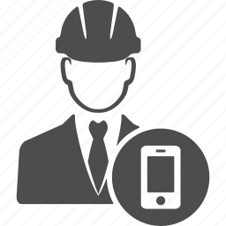 avatar, call, engineer, manager, mobile, phone, user icon