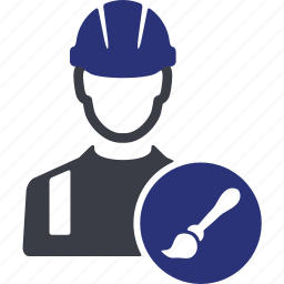 avatar, brush, job, man, paint, service, worker icon
