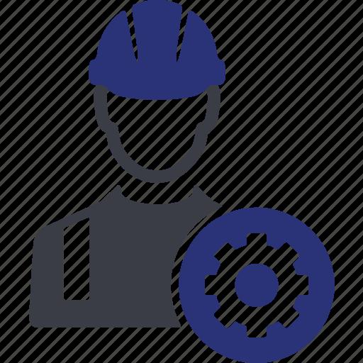 avatar, cog, engineering, gear, machine, repair, worker icon