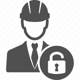 engineer, manager, protection, refe, safe, unlock icon