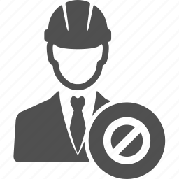 account, avatar, ban, business, manager, people icon