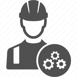avatar, cog, control, development, gear, repair, worker icon