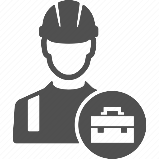 avatar, business, people, suitcase, user, work, worker icon