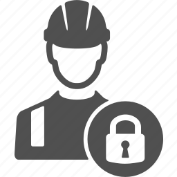 avatar, lock, people, protection, refe, user, worker icon