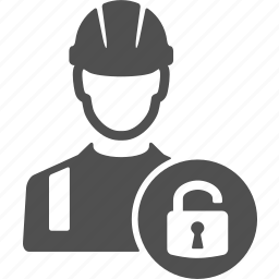 avatar, people, protection, safe, unlock, user, worker icon