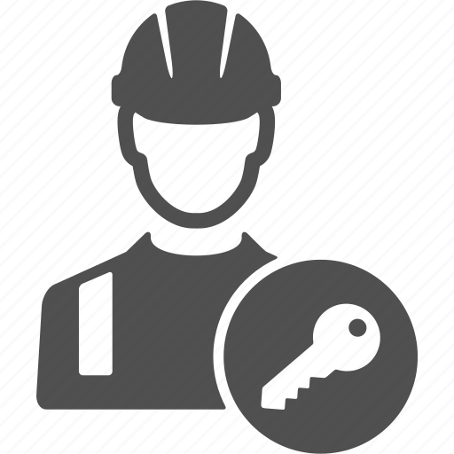 avatar, key, people, protection, safe, user, worker icon