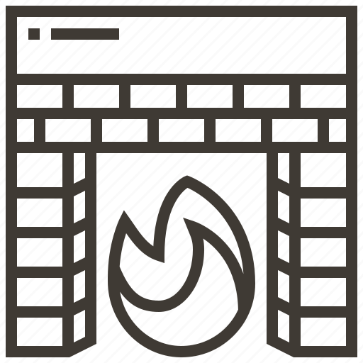 fire, fireplace, heat icon
