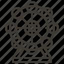 carnival, england, ferris wheel, wheel icon