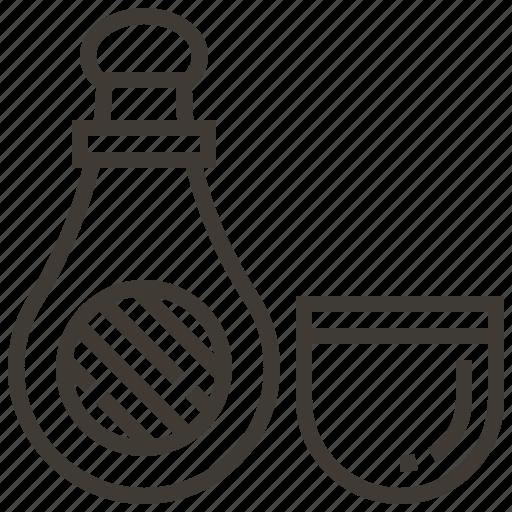 Beverage, bottle, bottle and glass, drink, glass icon - Download on Iconfinder
