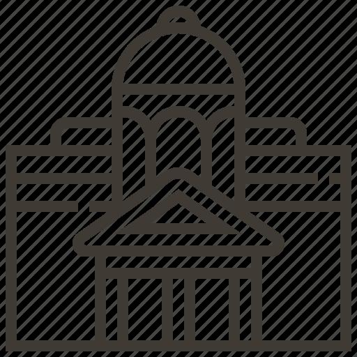 architecture, building, castle icon