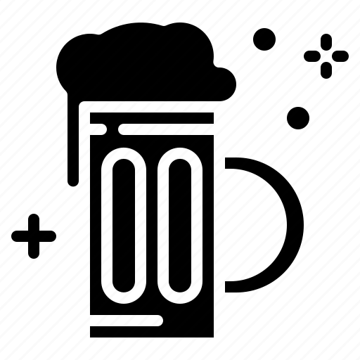 Glass, beer, beverage, alcohol, drink icon