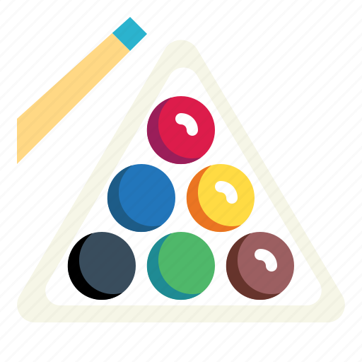 billiard, eightball, pool, snooker, stick icon
