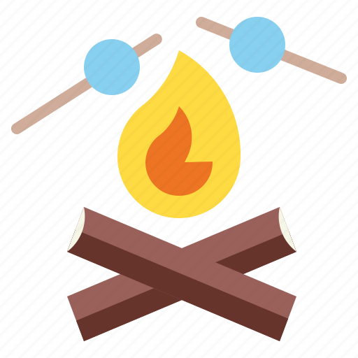 campfire, camping, fireworks, marshmallow, picnic icon