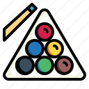 billiard, eightball, pool, snooker, stick icon