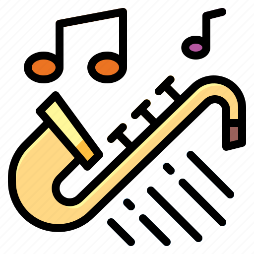 classical, jazz, orchestra, saxophone icon