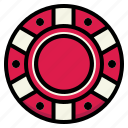 bet, casino, chip, poker, token icon