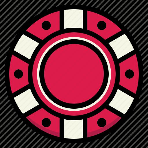 bet, casino, chip, poker, token icon
