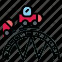 bigwheel, childhood, fair, ferriswheel, rollercoaster icon