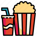 cinema, fastfood, popcorn, snack, softdrink icon