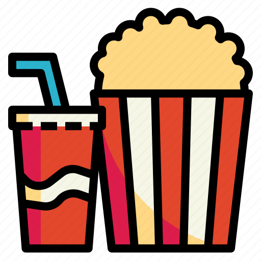 cinema, fastfood, popcorn, snack, softdrink icon