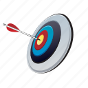 archery, arrow, game, sport, target icon
