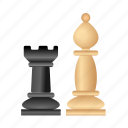 chess, figure, game, pawn, rook, strategy