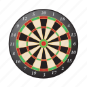 board, darts, bullseye, game, target icon