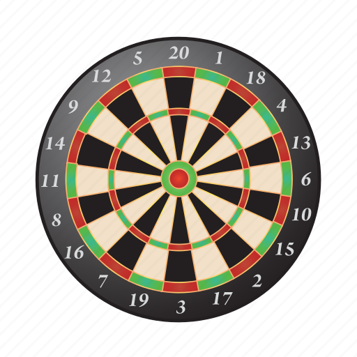 board, bullseye, darts, game, target icon