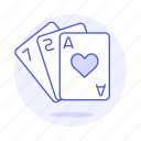 ace, card, cards, entertainment, game, hand, hearts, of, playing, poker icon