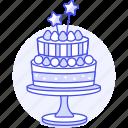 tier, wand, birthday, stand, star, celebration, strawberry, entertainment, cake