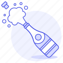 2, bottle, celebration, champagne, entertainment, event, graduation, party, wedding icon