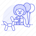 animal, balloon, balloons, carnival, circus, clown, dog, entertainment, event, fair