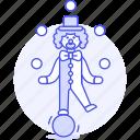 ball, balls, circus, clown, entertainment, event, juggling, show, skill, standing, swiss