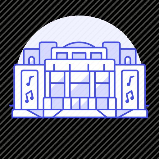 2, building, centre, cinema, concert, entertainment, event, hall, music, shows, theater, venue icon