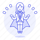 2, entertainment, female, floating, levitating, magic, magician, show, trick icon