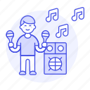 1, celebration, entertainment, male, maraca, mexican, music, party, rattle, speaker icon