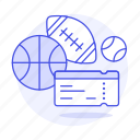 admission, championship, entertainment, game, match, sport, sports, ticket, tickets icon