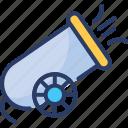 blaster, bombardment, canon, fire, firework, gun, weapon