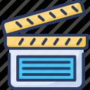 camera, cinema, clapper, film, movie, theater, video
