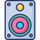 audio, buffers, deck, loudspeaker, songs, sound, system icon