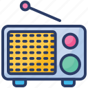 antenna, audio, boombox, communication, media, radio, wireless