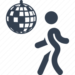 ball, club, dance, dancing, disco, discotheque, entertainment, music, out, outdoor, people, person, place icon