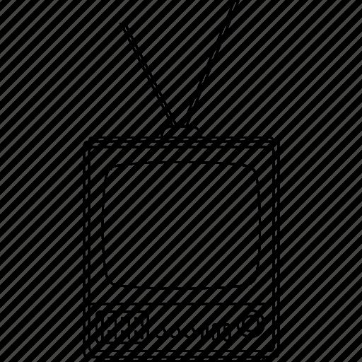 electronic, entertainment, media, retro, system, tv, vintage icon