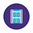 clip, film, movie, movie clip, video, watch icon