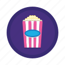 popcorn, movie, snack, movies