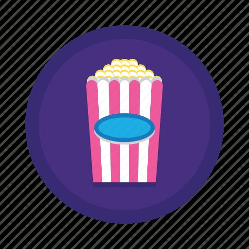 movie, movies, popcorn, snack icon